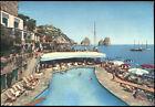 """cartolina CAPRI la piscina della """"canzone del mare"""""""
