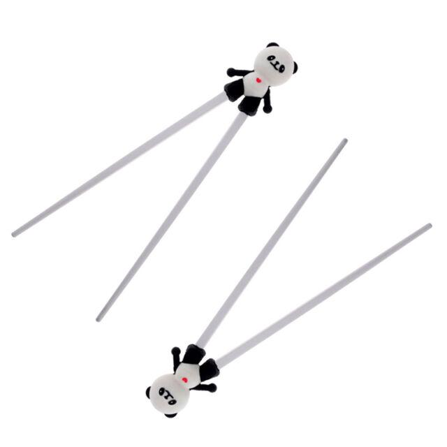 Kids Training Chopsticks Panda Child  Beginner Helper Learning Cheaters Toys .