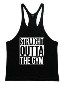 a2c635f53daf5c Straight Outta The Gym Mens Workout Gym Bodybuilding Stringer Tank ...
