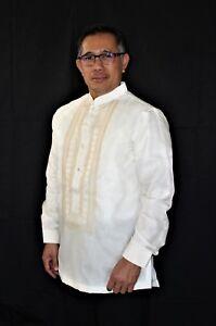 Image is loading BARONG-TAGALOG-CHINESE-COLLAR-Filipino-National-Costume -FILIPINIANA-  sc 1 st  eBay & BARONG TAGALOG CHINESE COLLAR Filipino National Costume FILIPINIANA ...