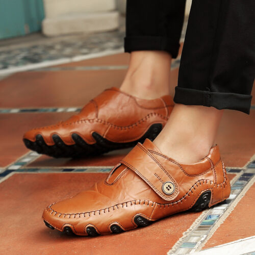 Classic Men Leather Driving Moccasins Sports Shoes Casual Slip-on Flats Sneakers