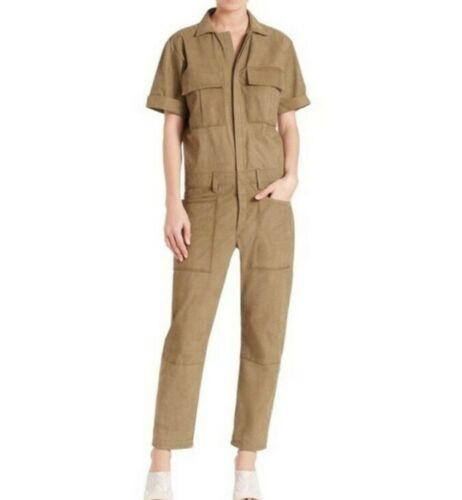 FRAME Suede Jumpsuit In Army Green Womens Size XSM