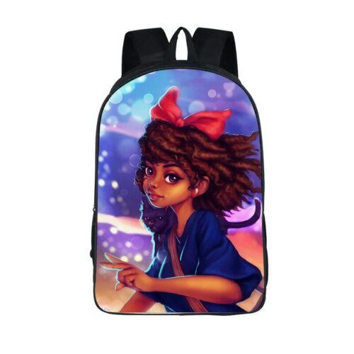 Afro African Beauty Black Princess Cool Black Girls Cute School Backpack