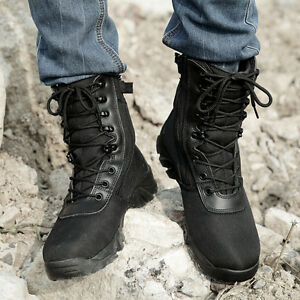 02f881eec8b Men Ankle Boots Combat Army Camouflage Shoes Military Hiking Desert ...