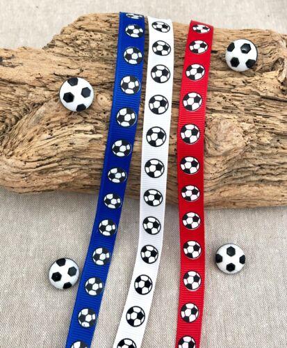 Cinta de fútbol Fútbol-Fútbol Botones-Decoraciones de Fiesta-Rojo Azul Blanco