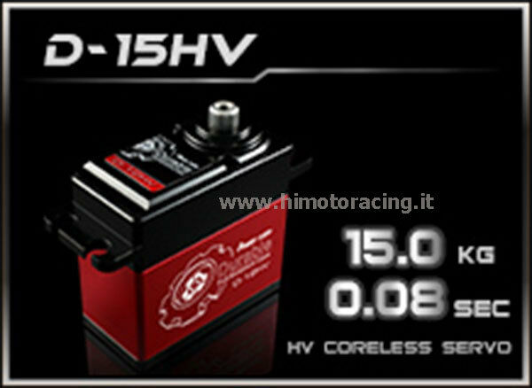 SERVO COMANDO DIGITALE POWER HD 15.0 Kg HIGH VOLTAGE INGRANAGGI TITANIO D-15HV