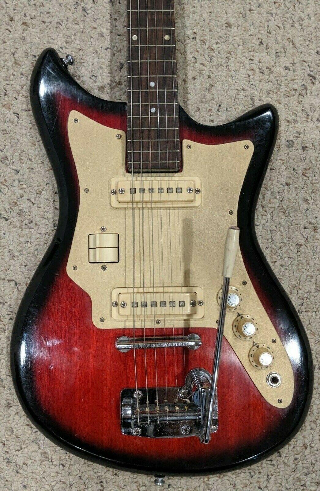 Vintage Pleasant  Lafayette Electric Guitar - 1960's - Plays and Sounds Superb