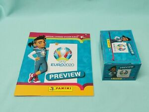 Panini-Euro-Em-2020-Preview-Sticker-Album-De-Scrapbooking-1-x-Display-120-pochettes
