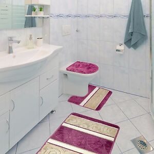 Image Is Loading Scroll 3 Piece Bathroom Rug Set Bath Rug