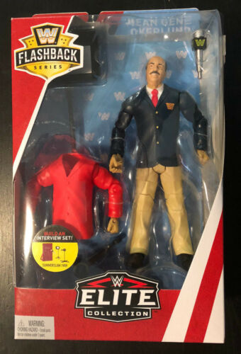 WWE ELITE Mean Gene Okerlund Flashback Series Figure 89 WWF SummerSlam interview