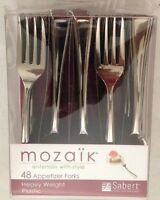 Mozaik 4 Heavy Weight Appetizer Forks - Lot Of 48