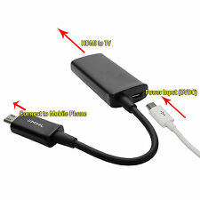 MHL Micro 11 Pin HDMI 1080P HDTV Cable Adapter For Samsung Galaxy S3 S4 Note 2 3