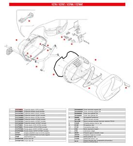 Z1462R Cinghia Elastica Interna per Valigia Givi V37 / V37 TECH / V37NN / V37NNT