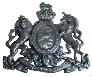 VERY RARE LARGE ANTIQUE HEAVY Arms of the EAST INDIA Company