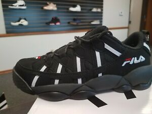 Details about Brand New Men's Fila Original SPA Spaghetti Low Black White  Red 1BM00262-014