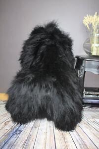 XXL-Large-Natural-Black-D-Brown-Genuine-Icelandic-Sheepskin-Soft-Real-Fur-Rug