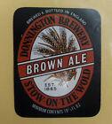VINTAGE BRITISH BEER LABEL - DONNINGTON BROWN ALE 19 1/3 FL OZ BLACK