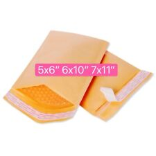 Any Size Yellow Kraft Poly Bubble Mailers Mailing Padded Envelopes