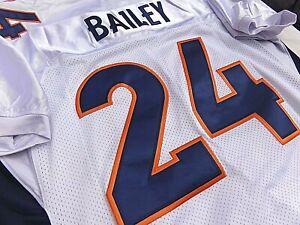 2019 HOF Class Champ Bailey Denver Broncos ADULT WHITE SEWN Jersey ...