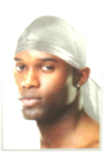 Luxury Du-Rag Tie Down Bandana Cappello Sciarpa Testa in sei colori UK Venditore