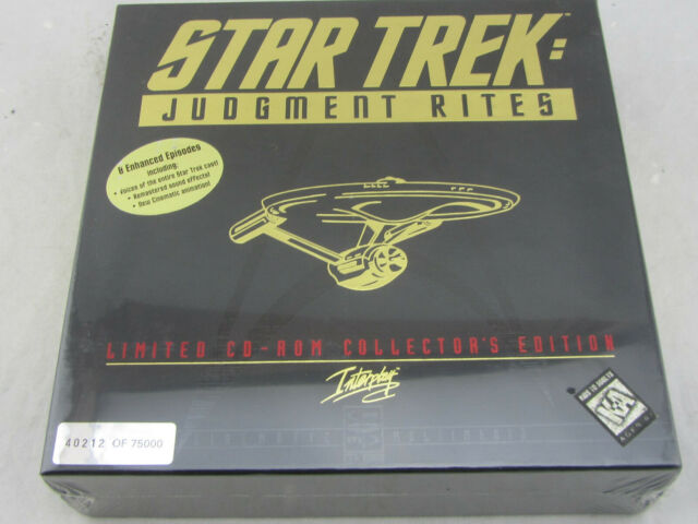 NEW - Star Trek: Judgment Rites Limited CD-ROM Collector's Ed (PC, 1995) Sealed