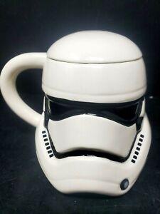 Star Wars Mug Stormtrooper Helmet 3D Ceramic Coffee Mug with Removable Lid 20 oz