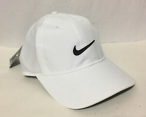 9e9be899ffb5e NWT NIKE ADULT UNISEX GOLF PERFORMANCE ADJUSTABLE CAP DRI-FIT WHITE ...