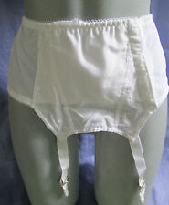"VINTAGE SLIM JIM WHITE ANGLAISE 100% COTTON DEEP SUSPENDER BELT  26"" SIZE 10"