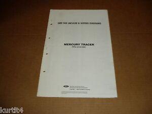 1989 mercury tracer wiring diagram sheet service shop manual ebay 1984 Mercury Tracer Wagon image is loading 1989 mercury tracer wiring diagram sheet service shop