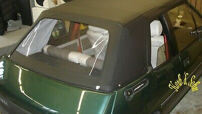 BMW Cabrio Convertible Cubierta Reparar Set Reparación Kit de Tejido Negro
