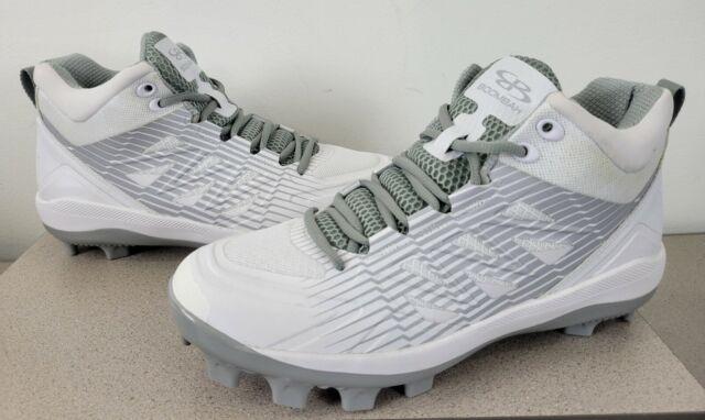 Boombah Baseball Softball Challenger Molded Cleats White Gray Mens Size 11