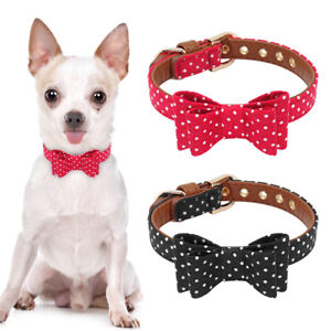 913431b910f1 Small Pet Dog Puppy Cat Bow Tie Collar Neck Accessory Adjustable ...