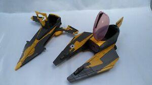 Hasbro-2008-Star-Wars-Clone-Wars-Anakin-Yellow-Jedi-Starfighter-Big-Vehicle-Toy