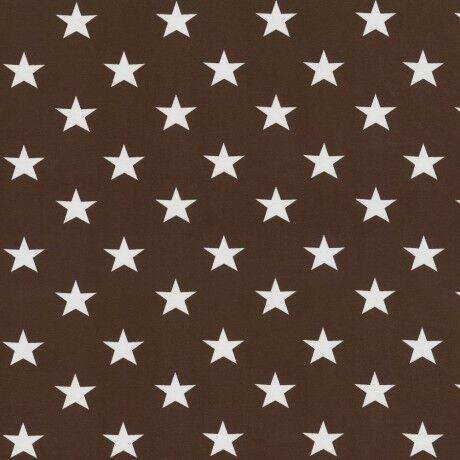 Jersey große Sterne 3,5cm Stars Verena Swafing dunkelbraun