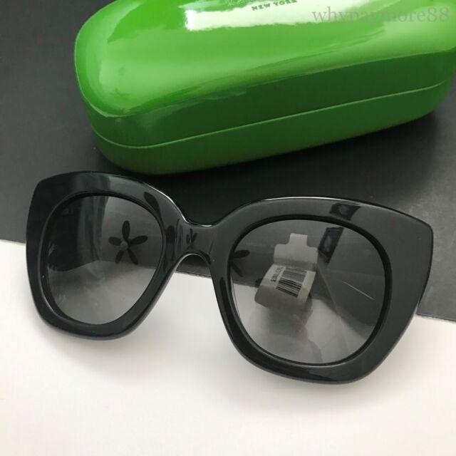 44c46f5578e Kate Spade NY Womens NARELLE S Black Oversized Sunglasses Gradient Lens NWT  Case