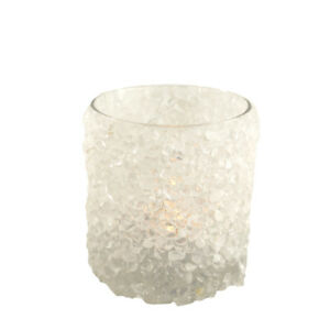 Ceramica Candelabro Candeliere Lanterna A Vento Argento Bianco Supporto