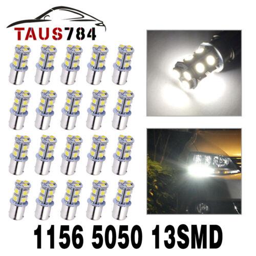 20x 6000K White 1156 BA15S 13-SMD Brake Tail Parking LED Interior Light Bulb 12V
