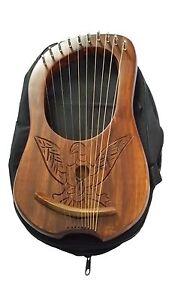 Vente Pas Cher Lyre Harpe 10 Métal Cordes Gravé Eagle Lyra Harfe Arpa Housse De Transport Avec Les éQuipements Et Les Techniques Les Plus Modernes