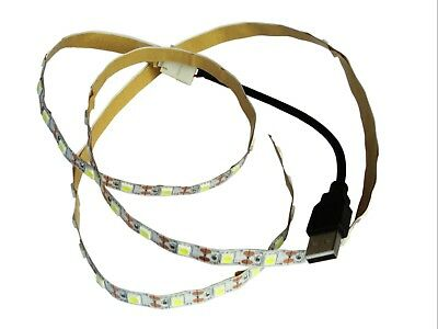 Strisce led 5050 DC5V non imperm.li cm.25-50-100 vari colori USB con cavo cm.100