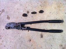 Tampb Thomas Amp Betts Tbm5 Compression Lug Crimper Tool With 3 Dies Free Shipping