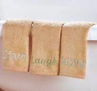 Inspirational Live Laugh Love 3 Piece Guest Bath Hand Towel Set