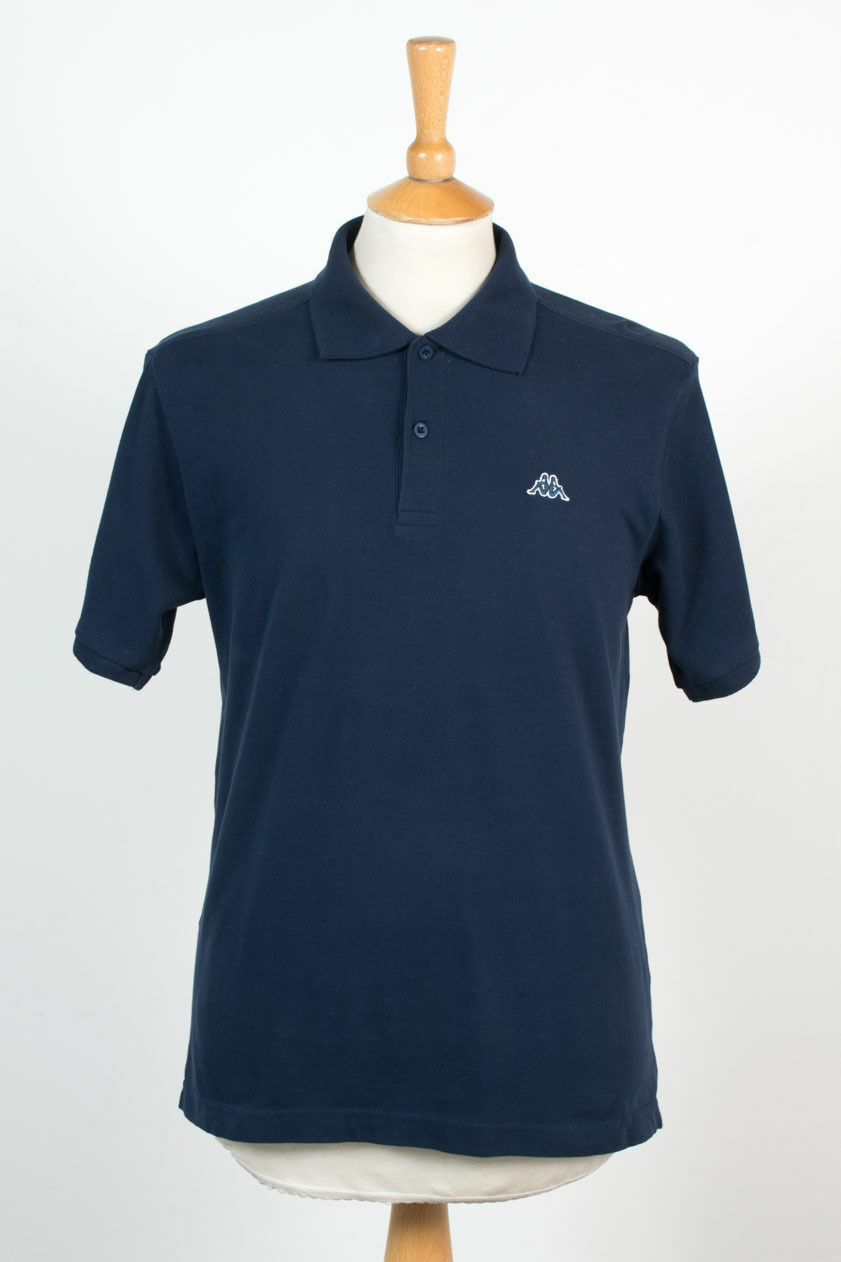 1082eafca3 Details about MENS KAPPA DARK BLUE POLO T-SHIRT ITALY ITALIA SHIRT CASUAL  SCOOTER MOD CASUAL S