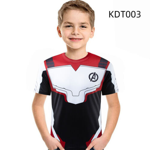 Child Kids Boys Girls T-Shirt 3D Printed Marvel Superhero Short Sleeve Gym Tops