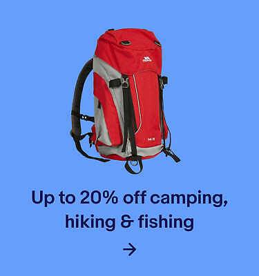 Up to 20% off camping, hiking & fishing