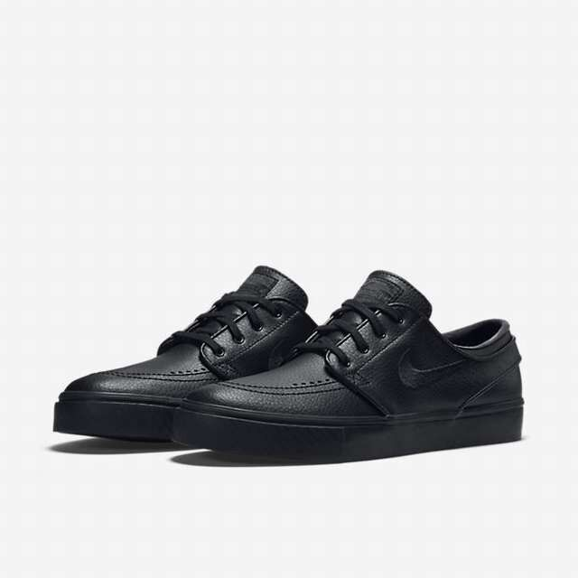da76f490e6d21 Nike SB Zoom Stefan Janoski Leather Mens 616490-006 Black Skate Shoes Size  10 for sale online