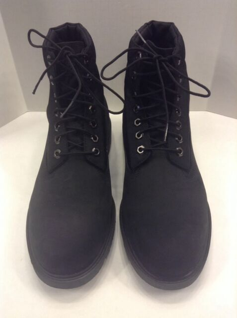 f7e1a0ea19 Timberland Basic Roll Top Black Leather Fabric Upper Boot Men 12 M NIB New  6635A