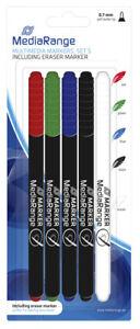 20-Stueck-BD-CD-DVD-Marker-je-4x-blau-gruen-rot-schwarz-sowie-Loeschstift