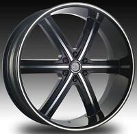 26 U2 55 Black Wheels Rims Tires Armada Titan Qx 56 Sierra Denali 22 20 24 Gmc