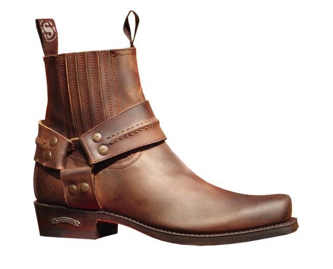 Sendra botas de motorista 2746 marrón * incl. original mosquito ® stiefelknecht *