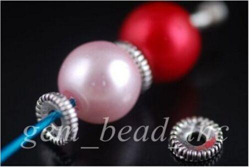 100Pcs Charme Tibétain Argent À faire soi-même Bracelet Bijoux Finding Craft Spacer Beads 7 mm